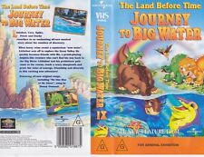 THE LAND BEFORE TIME JOURNEY TO BIG WATER VHS PAL VIDEO~ A RARE FIND VOLUME 1X