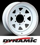 "DYNAMIC Steel White Sunraysia 15x7"" 5x114.3 Steel Rim"