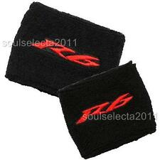 YAMAHA R6 BRAKE RESERVOIR COVER SET OIL CUP COVER GP SOCK YZF 600 S BLACK/RED