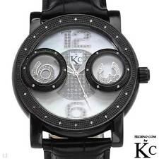 TECHNO COM by KC Men's Genuine Diamond Watch - NEW - .15 ctw