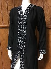 Fancy Khaleeji Abaya Arabic Button Up Half Open Jilbab Dubai Made Size XL 60