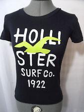 HOLLISTER T-Shirt top XS Navy Blue seagull design Surf Skater Beach Short sleeve