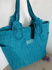 BNWT Marc Jacobs Teal Stitched Logo Nylon Tote Bag