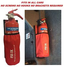 EASY INSTALL CAR VAN TAXI 1 KG ABC FIRE EXTINGUISHER  WITH UNIVERSAL CAR HOLDER