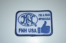"""FNH USA PROMO PATCH """"I'M A FAN"""" P90 PS90 FS2000 FIVE SEVEN 5.7 X 28MM FNX FNS!!"""