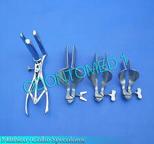 3 Collin Vaginal Speculum & 3 Prong Mathieu Anal Speculum Gynecology Instruments