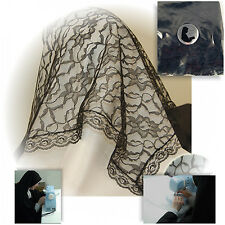 Handmade Sm. BLACK  Lace Chapel Veil Mantilla Catholic Latin Mass Head Covering