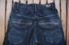 BNWOT PANTALÓN G-STAR NEW RILEY 3D LOOSE TAPERED COJ W29 L34 DISTRESSED JEANS