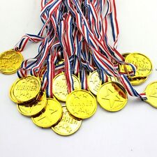 24X Children Gold Plastic Winners Medals Kids Game Sports Prize Awards Toys NEW