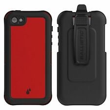 Ballistic Hydra Waterproof Holster Case for Apple iPhone SE/5S/5 - Red/Black