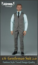 "VORTOYS 1/6 Grey Gentleman suit Clothing Set V1005B Fit 12"" Male Figure Model"