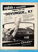 QUATTROR962-PUBBLICITA'/ADVERTISING-1962- CONDOR AUTORADIO - K7