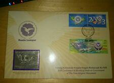 Royal Selangor Pewter Stamp FDC 2003 NAM Non-Aligned Movement Negara Berkecuali