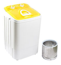 DMR 46-1218 Single Tub Portable Mini Washing Machine wid steel dryr basket - Ylw