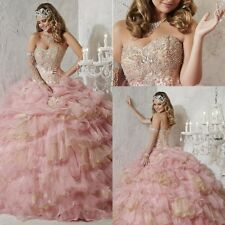 New Pink Quinceanera Dresses Formal Prom Party Pageant Ball Gown Wedding Dresses