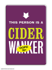 Brainbox Candy rude funny 'Cider W*nker' fridge magnet cheap gift present