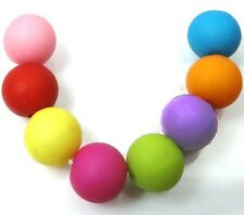 100 Mixed Color Frosted Matte Acrylic Round Beads spacer 8mm