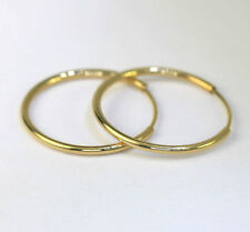 "Endless hoop earrings 14K yellow gold tube 16 MM 5/8"" long 18 gauge brand new!!"