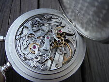 Longines 18.72 Split Second Chronograph Rattrapante Pocket Watch For Repair ONLY