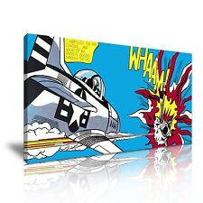 Whaam! Roy Lichtenstein Pop Art Canvas Wall Picture Print 60x30cm Reproduction