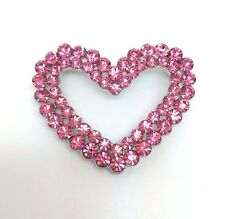 ROSE CRYSTAL RHINESTONE HEART SHAPED WEDDING PARTY BRIDAL ALLOY VALENTINE BROOCH