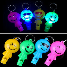 NT Safety Loud Panic Attack Rape Alarm Key Ring Keychain Smile Face Whistle