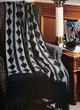 HANDSOME Diamonds for Him Afghan/Crochet Pattern INSTRUCTIONS ONLY