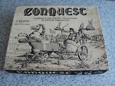 VERY RARE 1975 DONALD BENGE 2 PLAYER CONQUEST BOARD GAME NOT COMPLETE