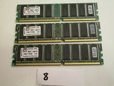Kingston RMD1-400/1G lot of 3x1Gb=3Gb PC3200 400Mhz DDR1 desktop Memory RAM (8)