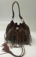 Raviani Fringe Drawstring, Tiger Hair On Hide, Handmade In USA