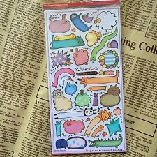 Cute Animal Scrapbooking Card PVC Sticker Label Word Diary Art Craft