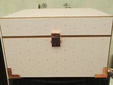New Beautiful Pale Pink TED BAKER Storage Jewellry Box Rose Gold Fixtures
