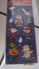 HOLOGRAPHIC SNOOPY PEANUTS GANG HALLOWEEN STICKER SHEET HALLMARK NEW