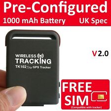 Genuine gps tracker voiture espion mini personal bike tracking device TK102B