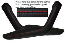 RED STITCHING 2X DOOR HANDLE ARMREST SKIN COVERS FITS TOYOTA CELICA 1976-1977