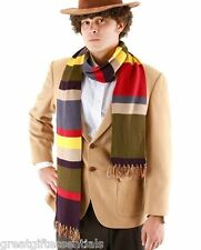 Dr Who Fourth 4th Doctor 6' Striped Scarf Costume Replica Tom Baker BBC LICENSED