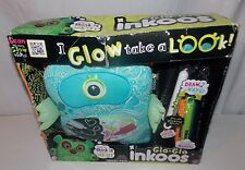 Glo Glo Inkoos Glow In the Dark Blue Alien Plush Markers New