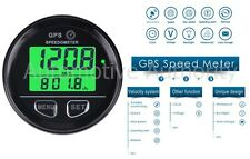 GPS Speedometer 60mm Gauge Odometer Battery Meter Digital Dash 12v 24v