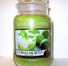 "Yankee Candle ""CUBAN MOJITO""  22 oz.~ EUROPEAN RELEASE ~ TAN LABEL ~ NEW"