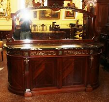 Breathtaking French Bronze Mounted Sideboard Server Sink Vanity Marble & Mirror