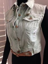 GALLIANO BELTED DENIM VEST - NWT SIZE IT 40 / US 6