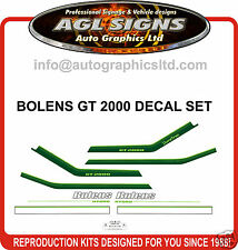 BOLENS GT 2000 TRACTOR DECAL SET, reproduction