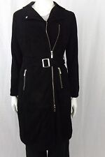 VERONICA DAMIANI SUEDE COAT STYLE V-9351-34 BLACK  UK 8  ITL 40