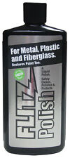 Flitz Metal Plastic Fiberglass Polish, 3.4 Ounce Liquid Bottle
