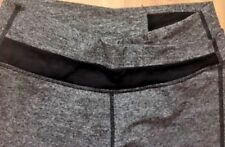 LULULEMON ASTRO PANTS Heathered Gray w Black size 6 Yoga Gym Spin Fun EUC