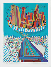 CITY #368 Architecture Translated to Beautiful Art; Serigraph By Risaboro Kimura
