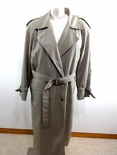 TOWNE LONDON FOG WOMENS TAN POLYESTER COTTON TRENCH COAT SIZE 14