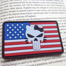 U.S.A. PUNISHER SKULL PATCHES USA US ARMY 3D PVC MORALE BADGE HOOK VELCRO PATCH