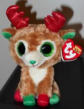 "Ty Beanie Boos ~ ALPINE the 6"" 2016 Dated Reindeer ~ MINT with MINT TAGS"