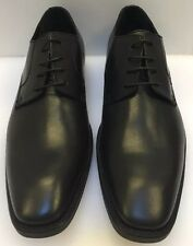 Donald J Pliner Borak -06 Oxfords Plain Toe Black Leather Italy Made Men 10 NIB